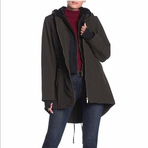 French Connection Women's Bib Hooded A-Line Coat
